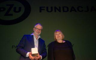 Laureat Durs Grünbein, Grażyna Melanowicz, członek Rady Fundacji PZU