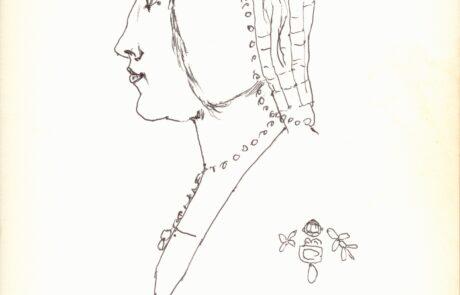 Portret kobiety z profilu