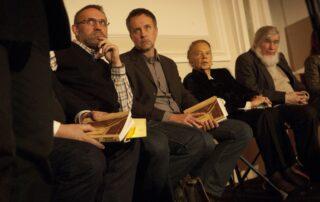 Wojciech Bonowicz, Tomasz Różycki, Julia Hartwig, Krzysztof Karasek
