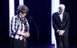 Katarzyna Herbert składa gratulacje Laureatowi Nagrody