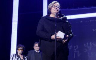 Wystąpienie Aliny Gużyńskiej - przedstawicielki PKN ORLEN, sponsora Międzynarodowej Nagrody im. Zbigniewa Herberta