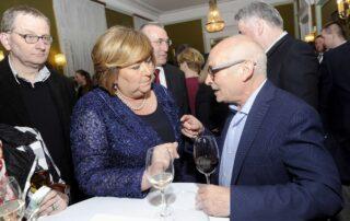 Pierwsza Dama RP Anna Komorowska i Jan Lityński