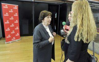 Katarzyna Herbert udziela wywiadu