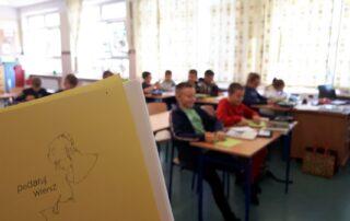 Wnętrze klasy szkolnej
